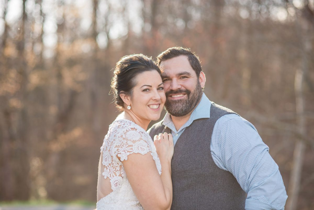 bride and groom portrait at Maloney Point in the Smoky mountains in Gatlinburf TN
