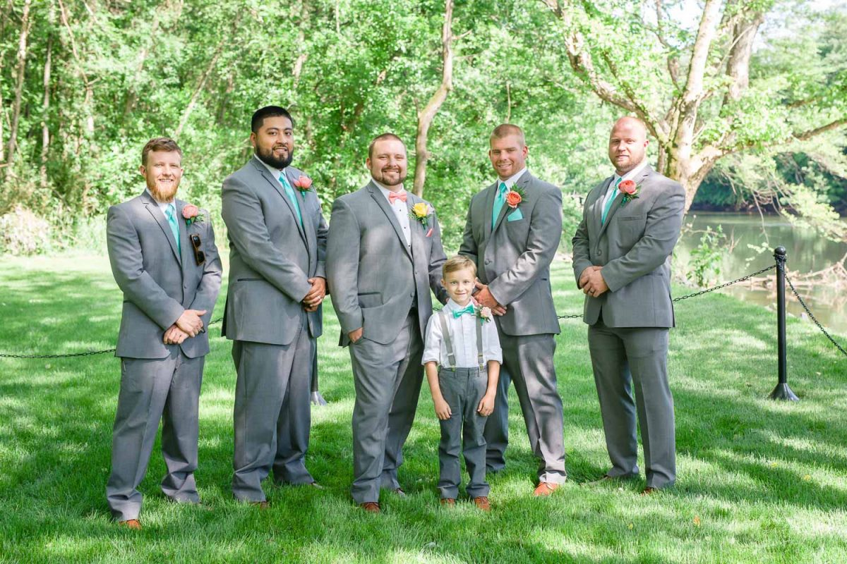 groomsmen at Hiwassee River Weddings