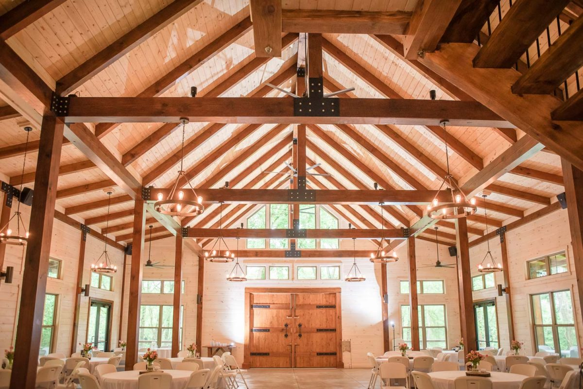 interior of Hiwassee River Weddings Delano TN