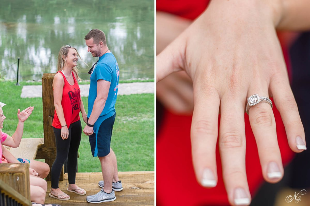 surprise proposal and engagement ring