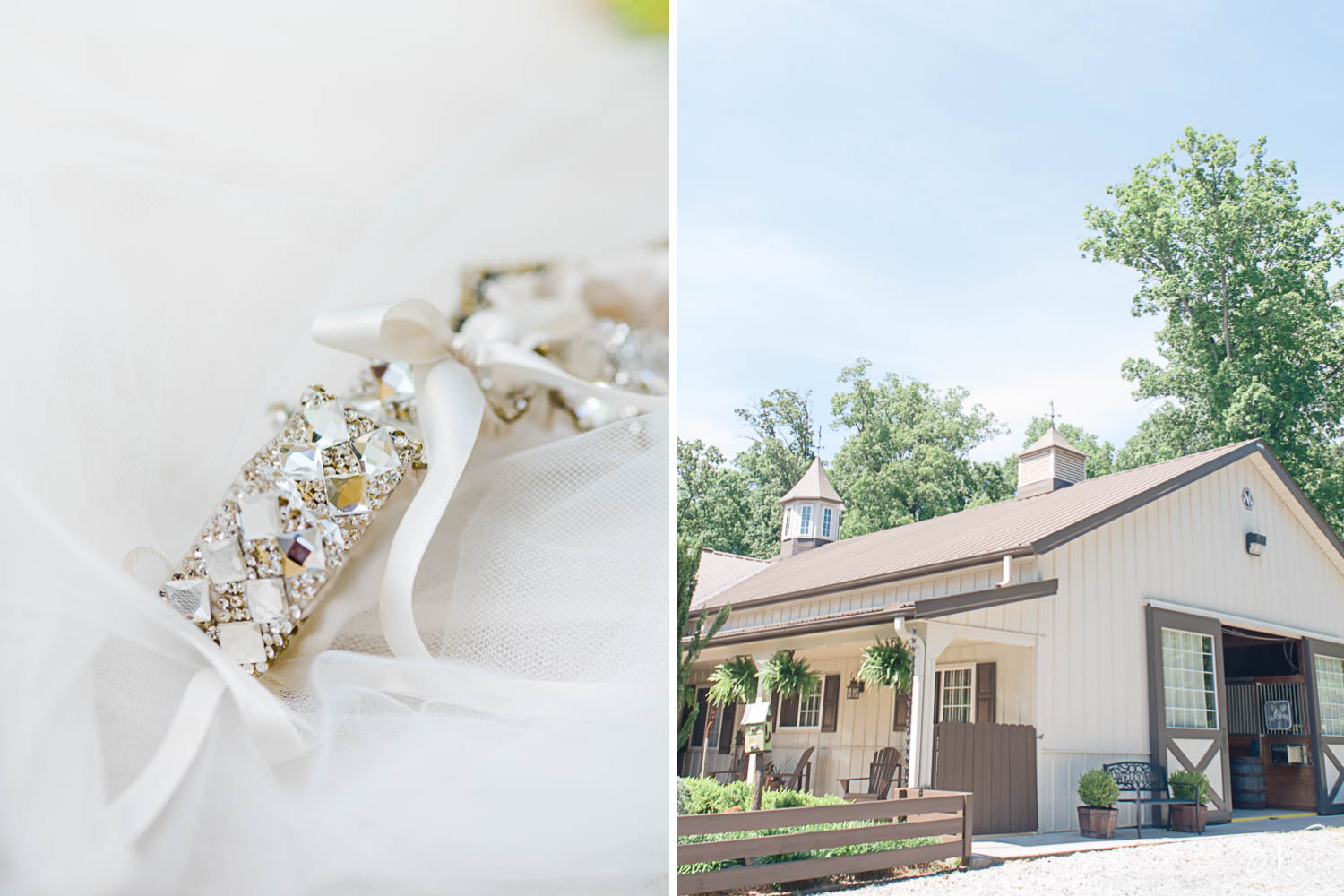 SUNDANCE FARM wedding venue and blingy garter
