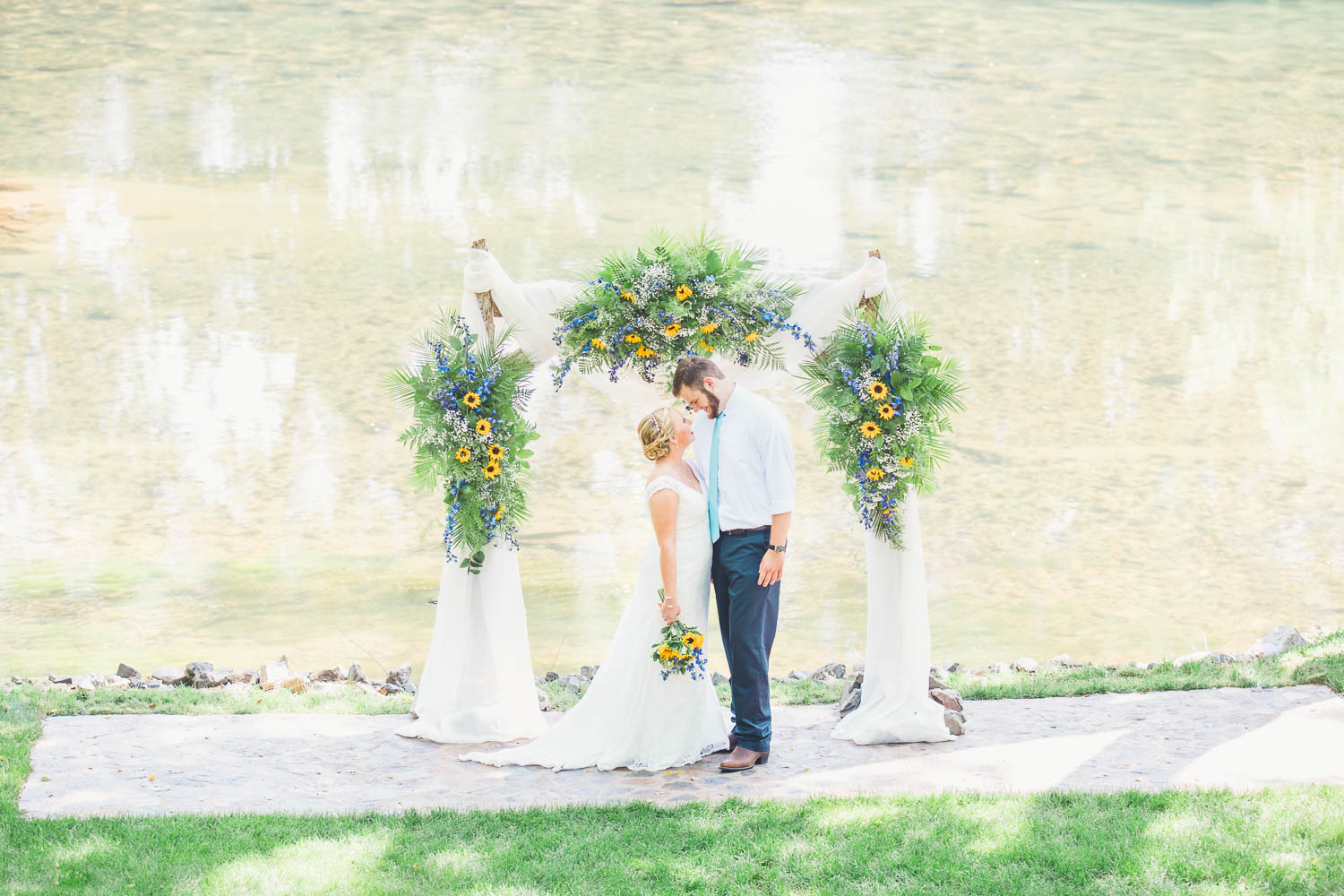 A Hiwassee River Weddings Sunflower Wedding | Collin and Peyton