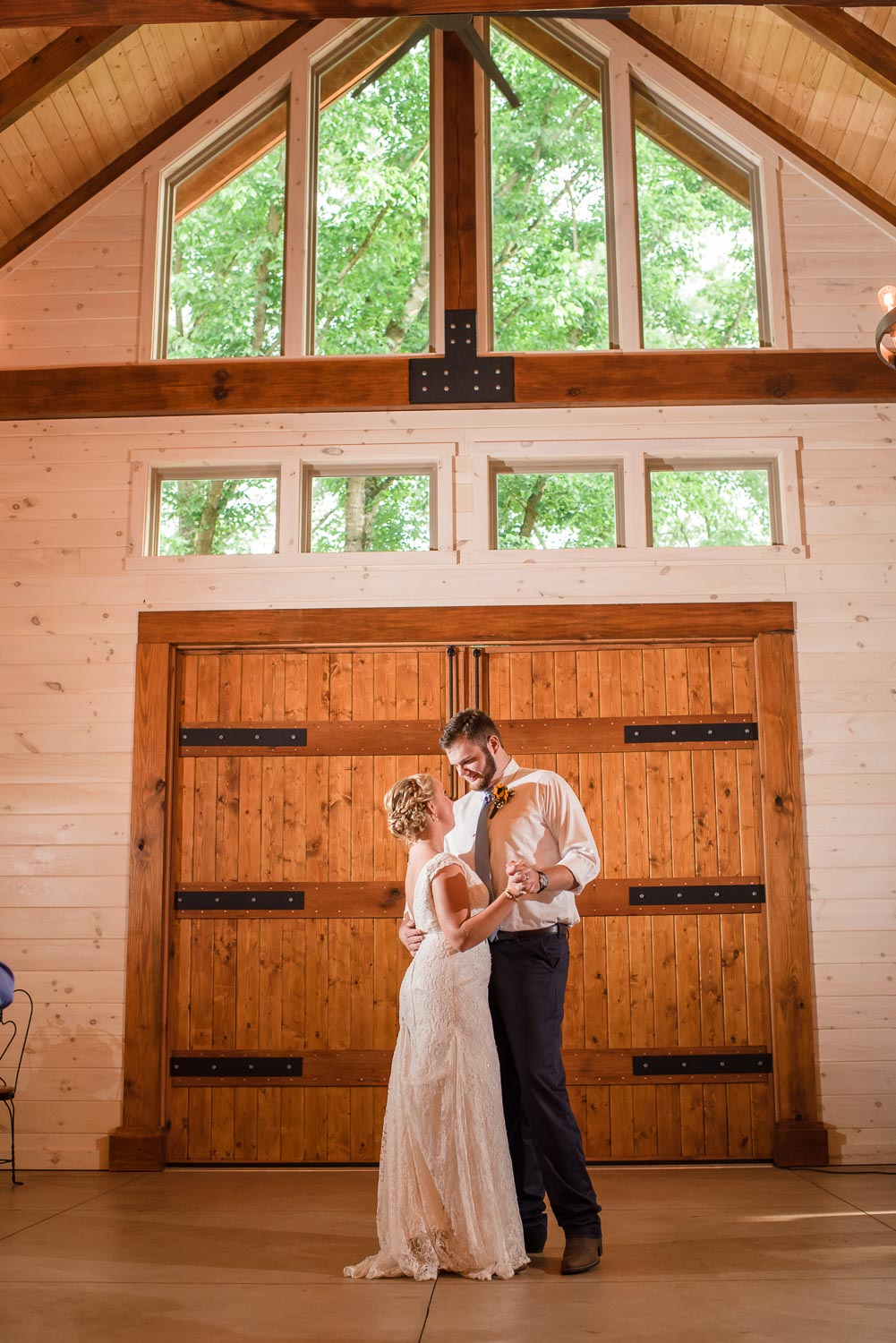 first dance inside Hiwassee River Weddings
