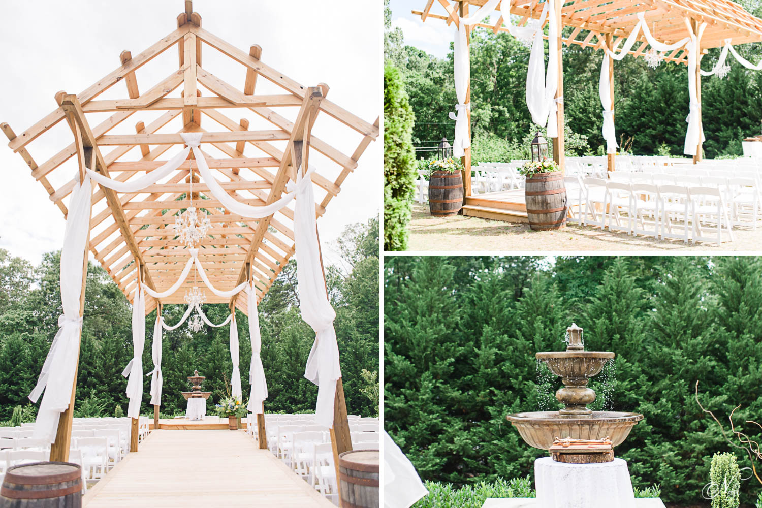 knoxville outdoor wedding ceremony site at Sun dance Farm