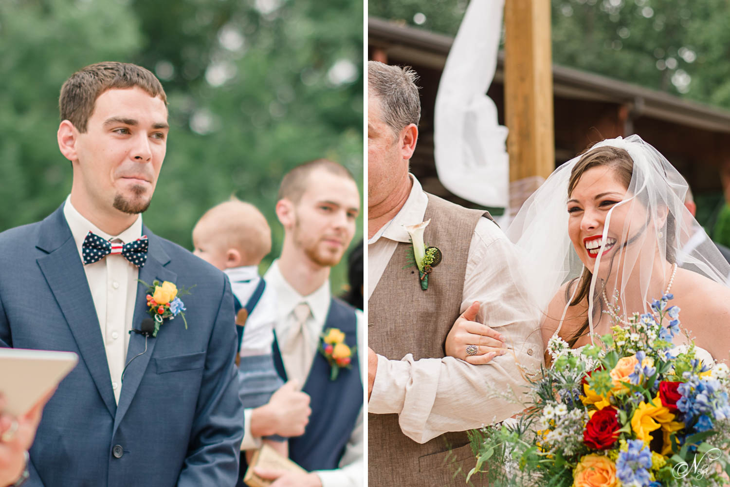 grooms reaction when seeing his bride