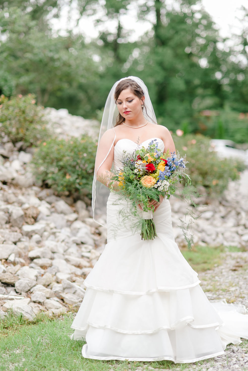 bride in dress from White lace and promises in Knoxville