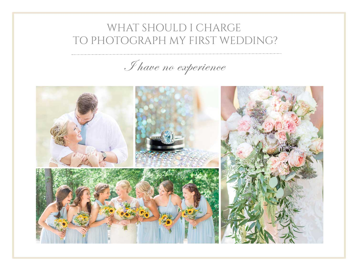 What should I charge to photograph my first wedding?