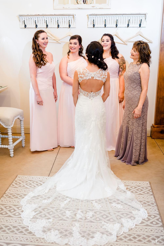 back of a Stella York wedding dress