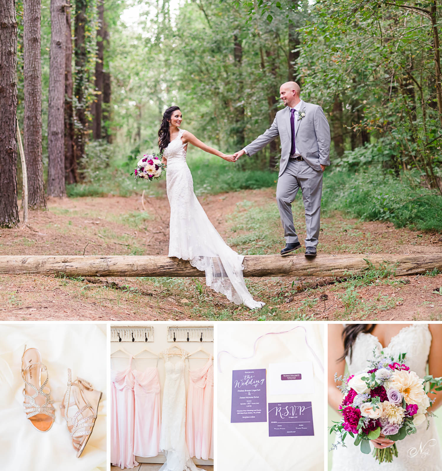 pALE PINK AND LAVENDER RIVERSIDE WEDDING