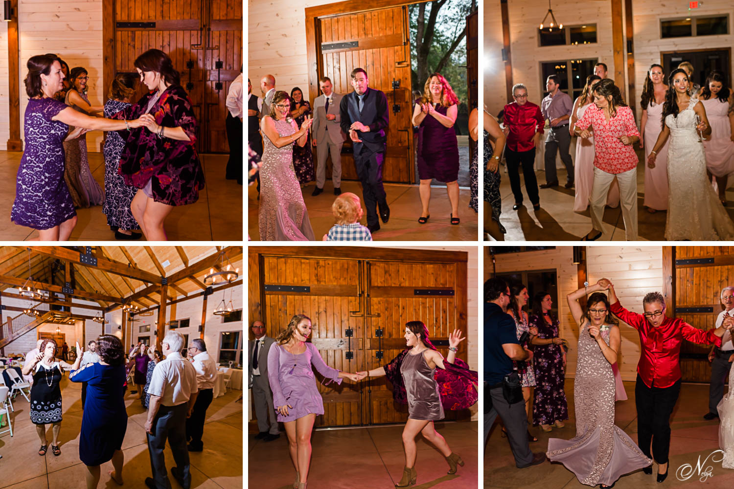 guests on the dance floor at the reception dancing to Latin music