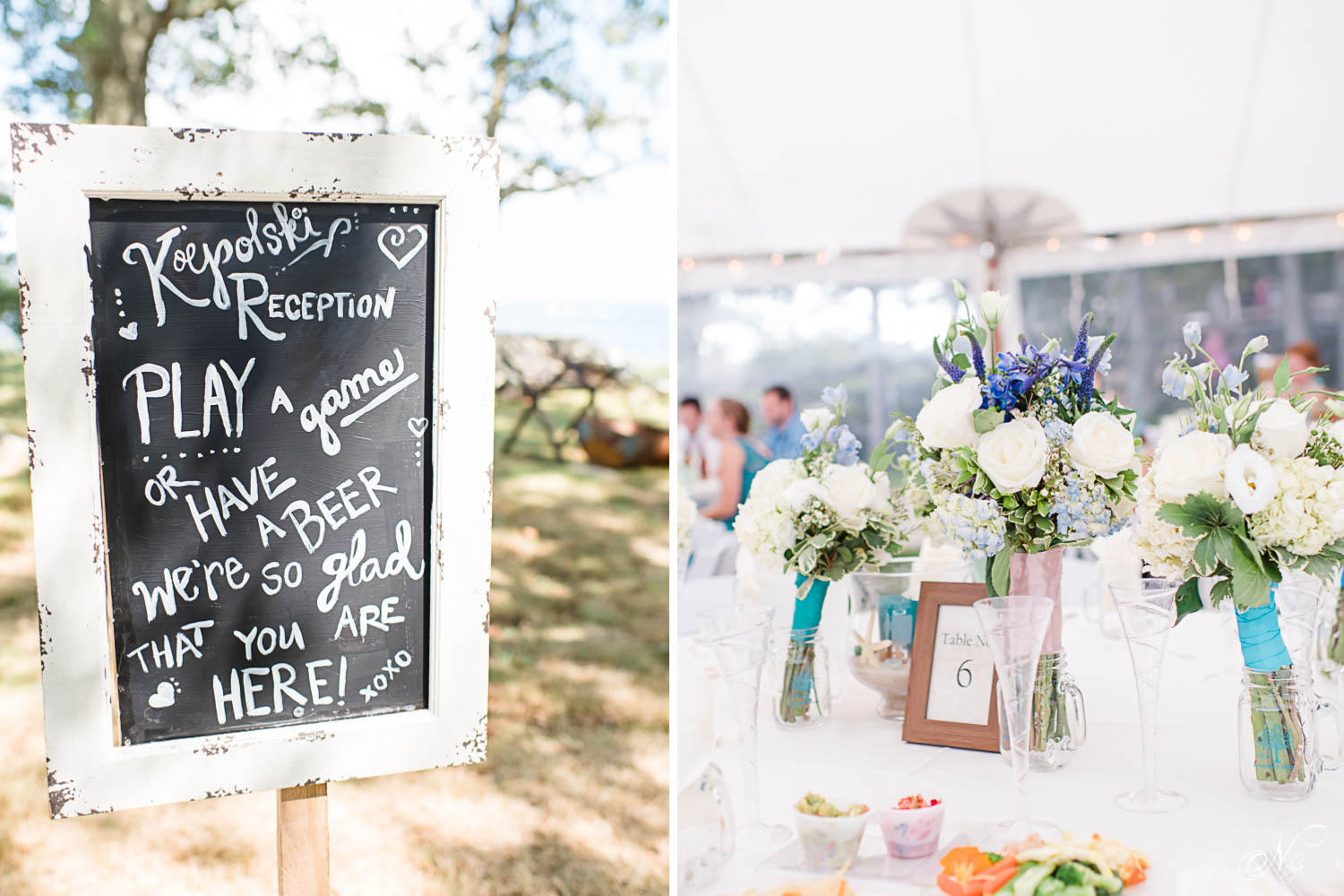 chalkboard wedding reception sign