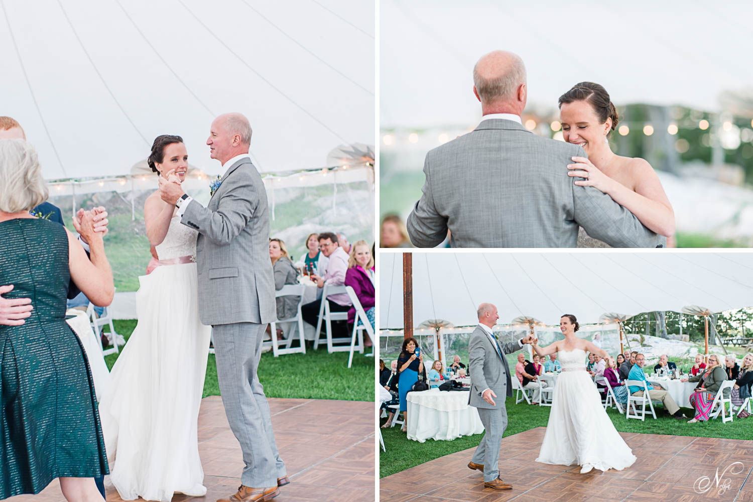 father daughter dance under the tent