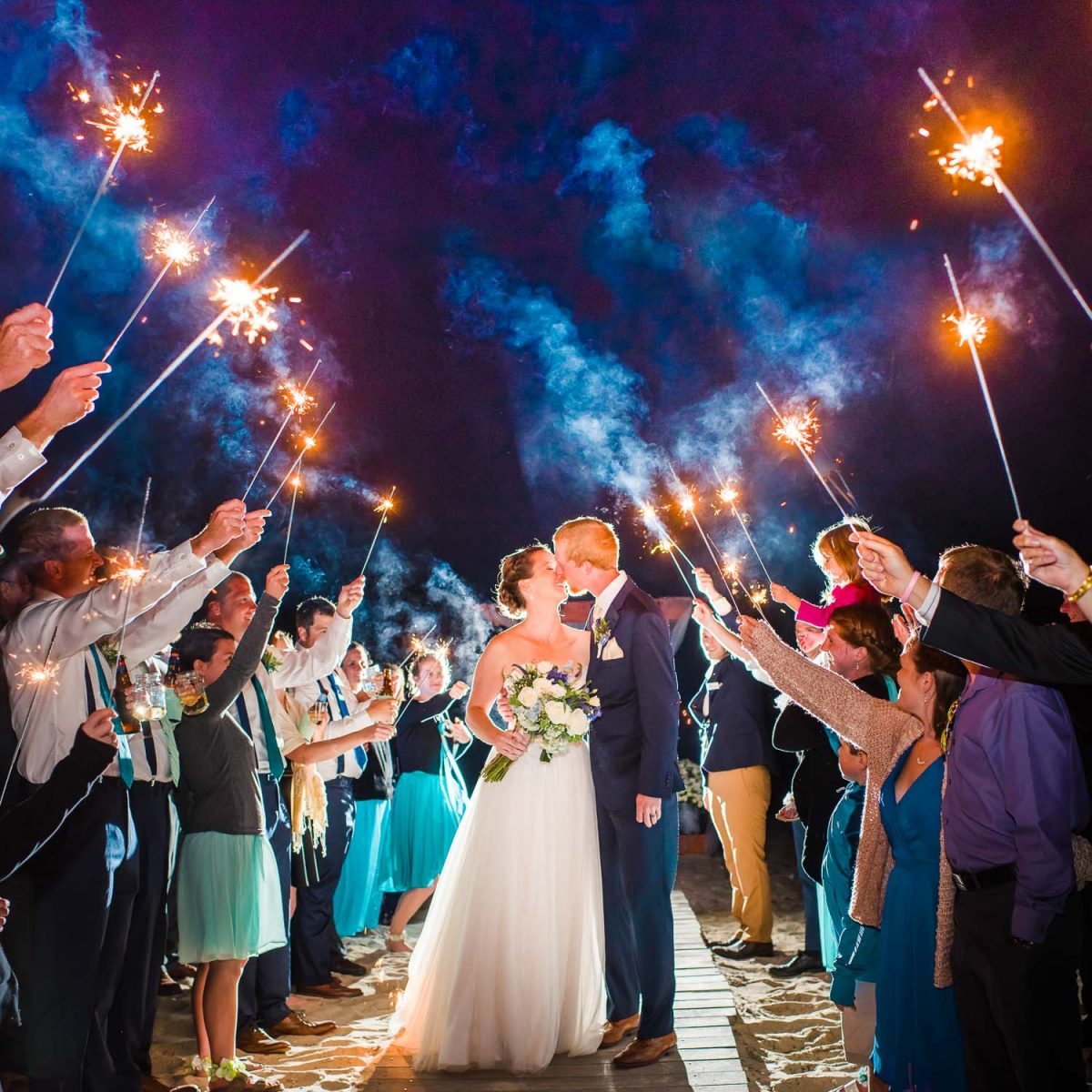 """18"""" sparklers at best wedding sparkler exit"""