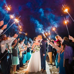 Wedding Sparklers. What kind should I get? Tips for better wedding sparkler exit photos