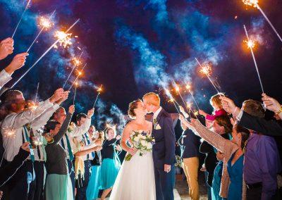 Nelya MA seaside wedding-sparkler exit
