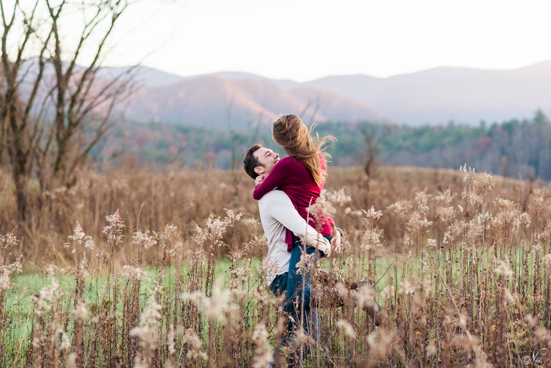 guy in white shirt hugging girl near Maryville TN