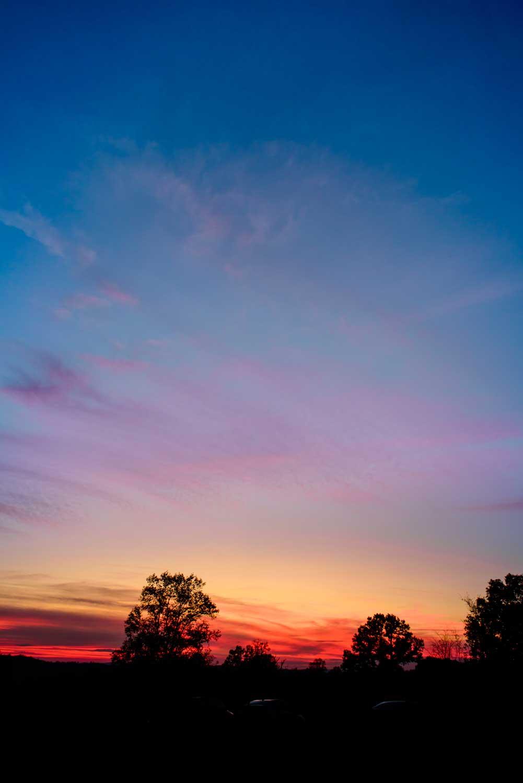 sunset in November off Dalton Pike in Cleveland TN
