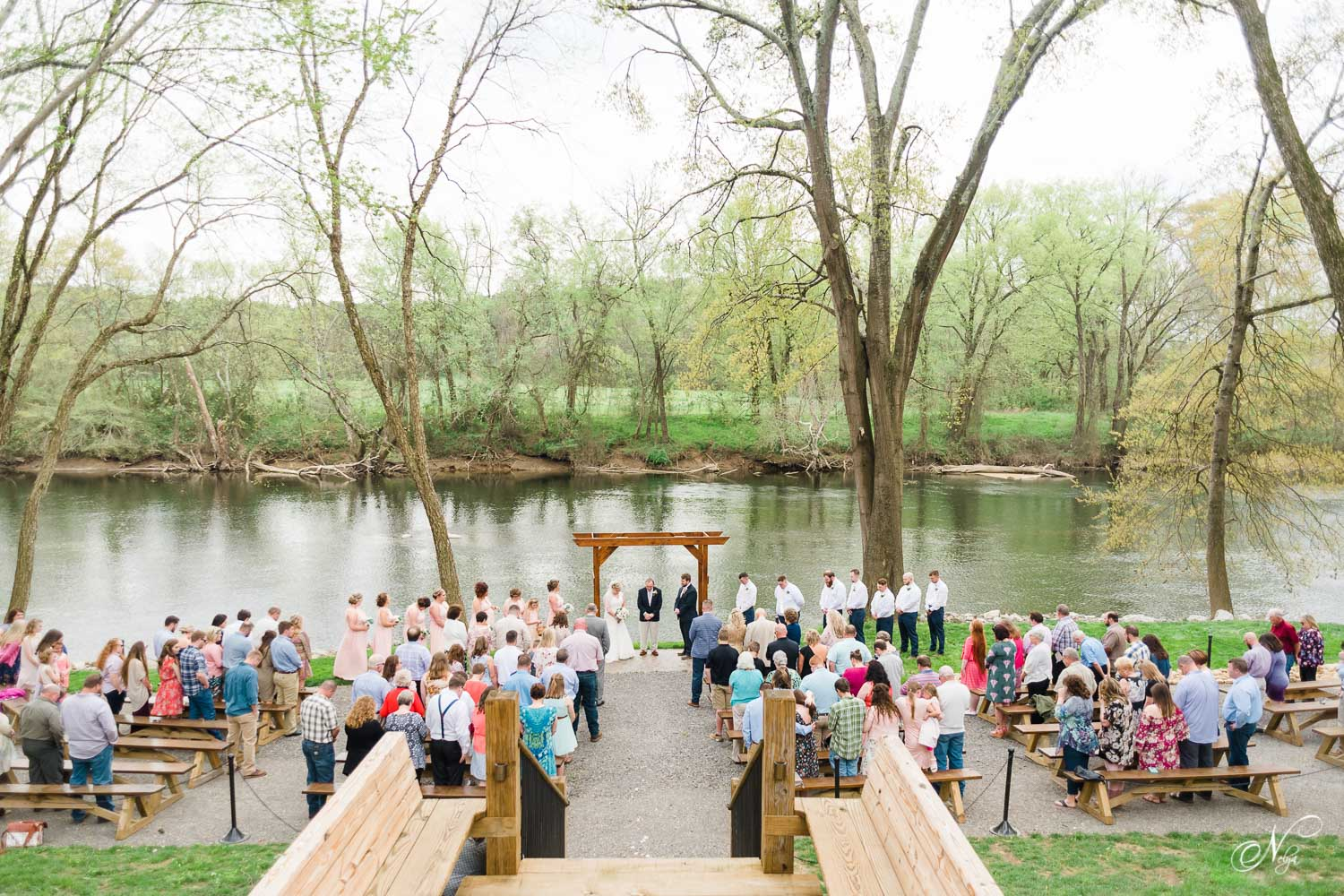 riverside wedding ceremony in south east tennessee near North georgia