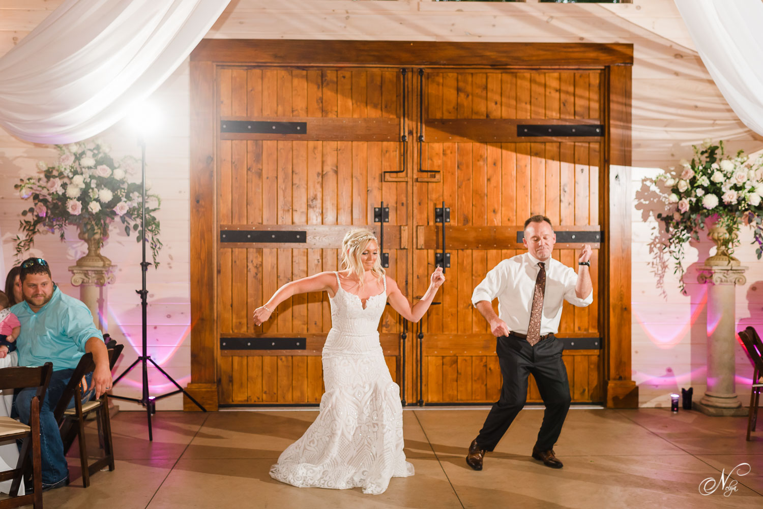 bride and her dad dancing to a mix by DJT3 of chattanooga TN