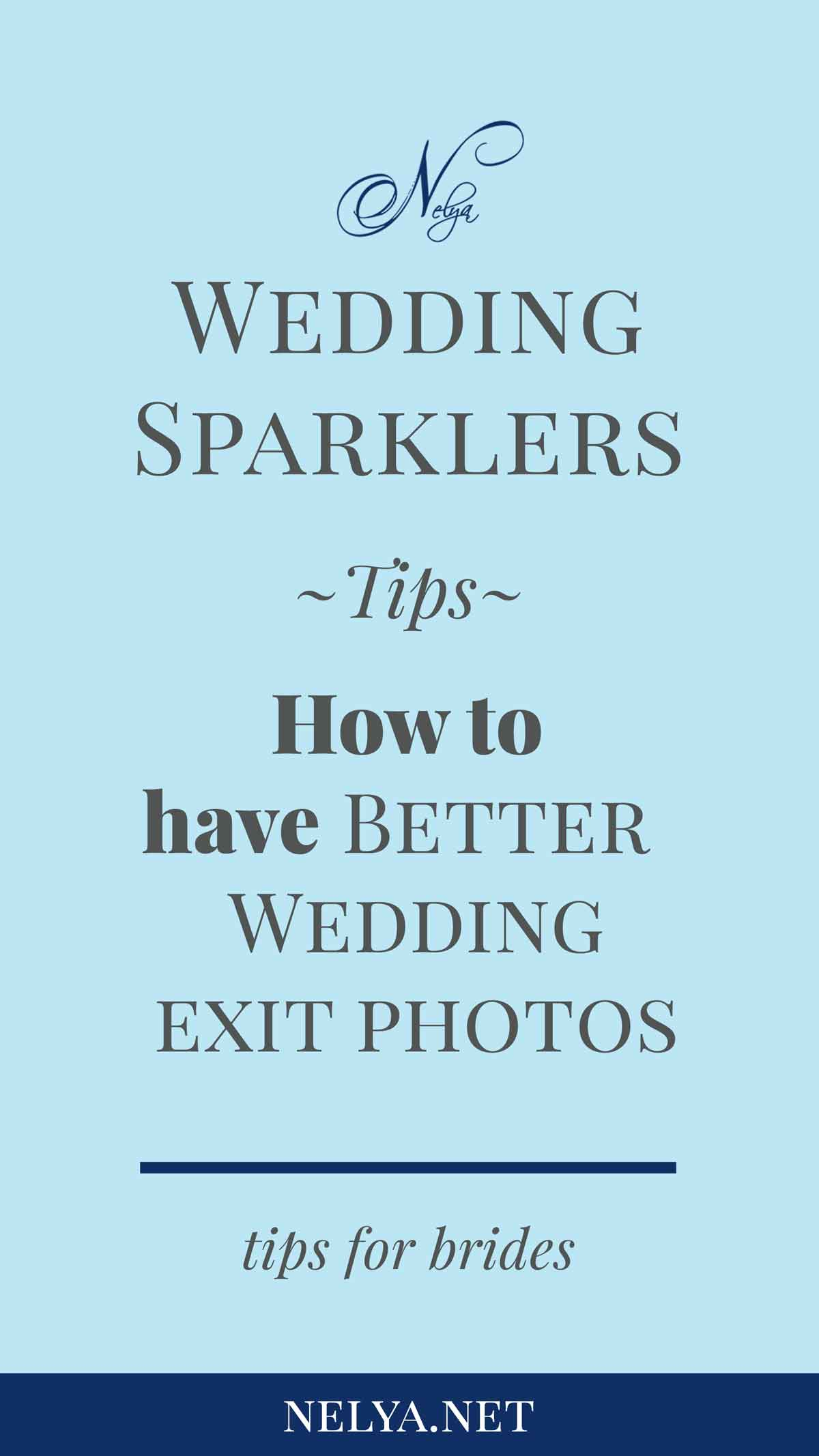 Tips for better wedding sparkler photos