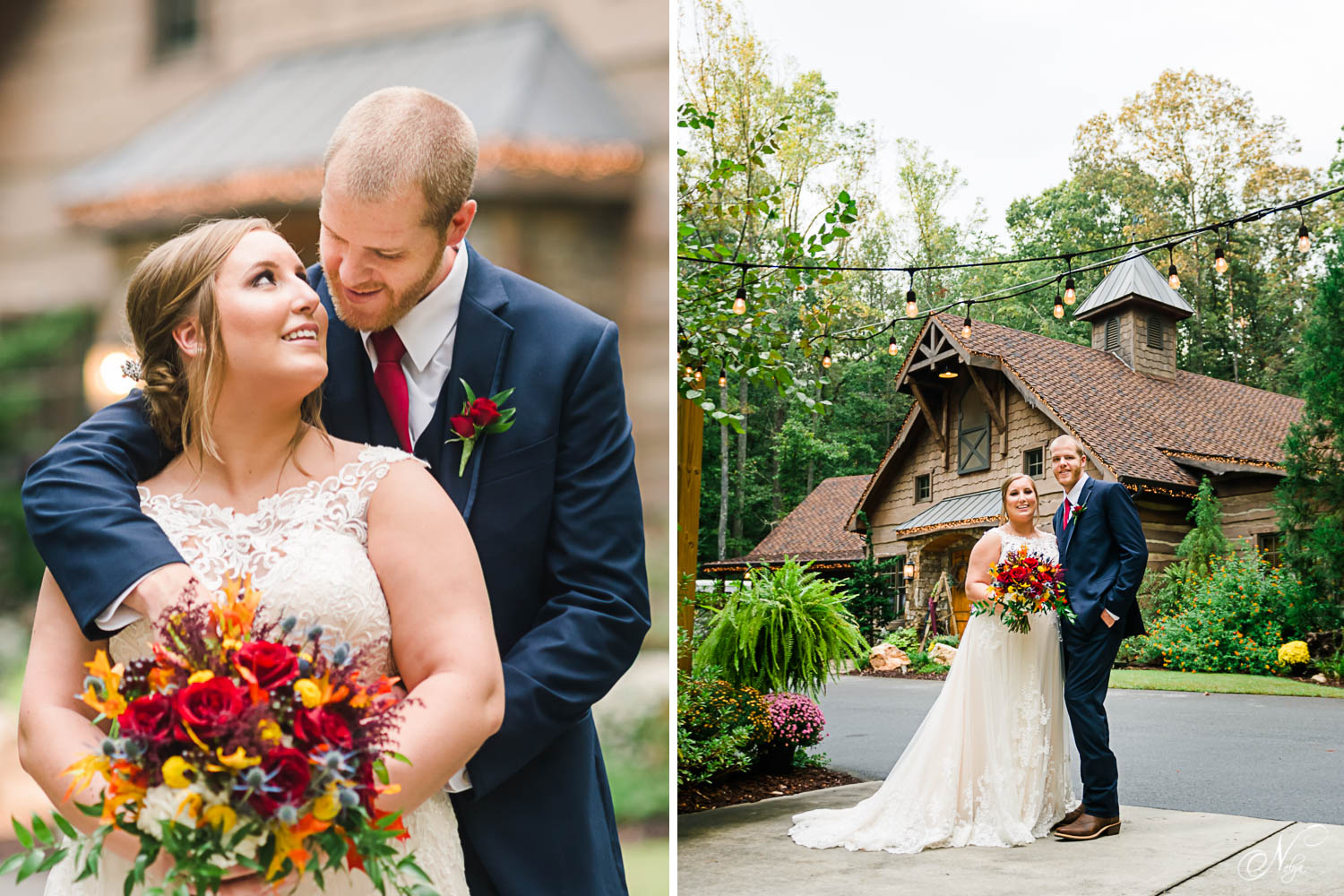 october wedding at the starwars-like village of Indigo Falls events in Dallas GA