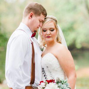fall tennessee wedding bride and groom portraits outside near Cleveland TN