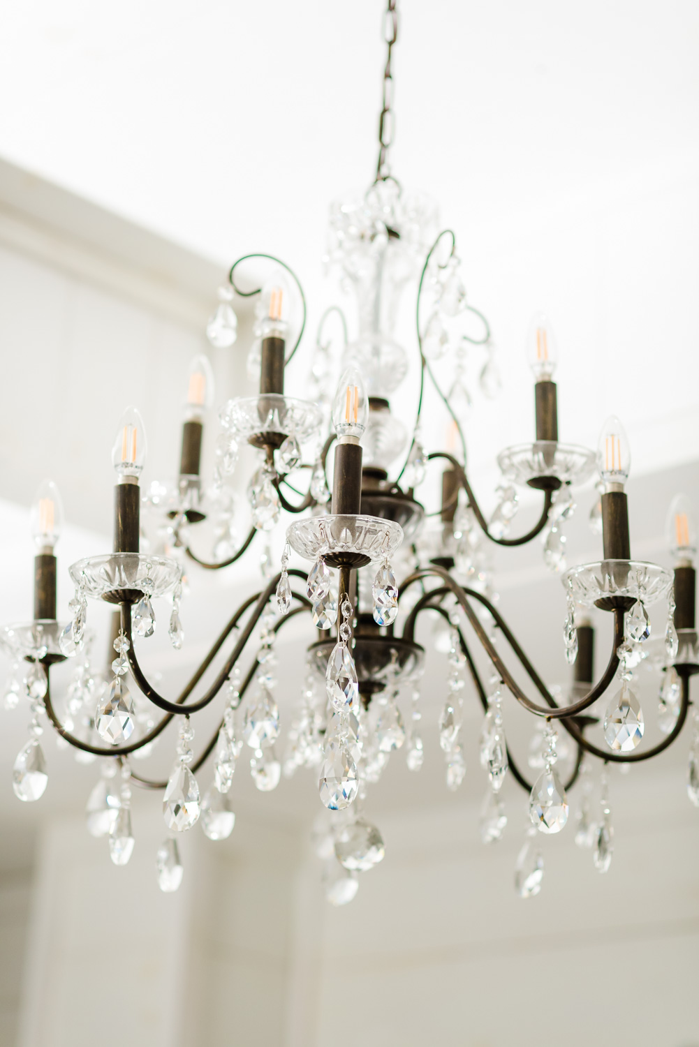 chandelier at Circle B Events