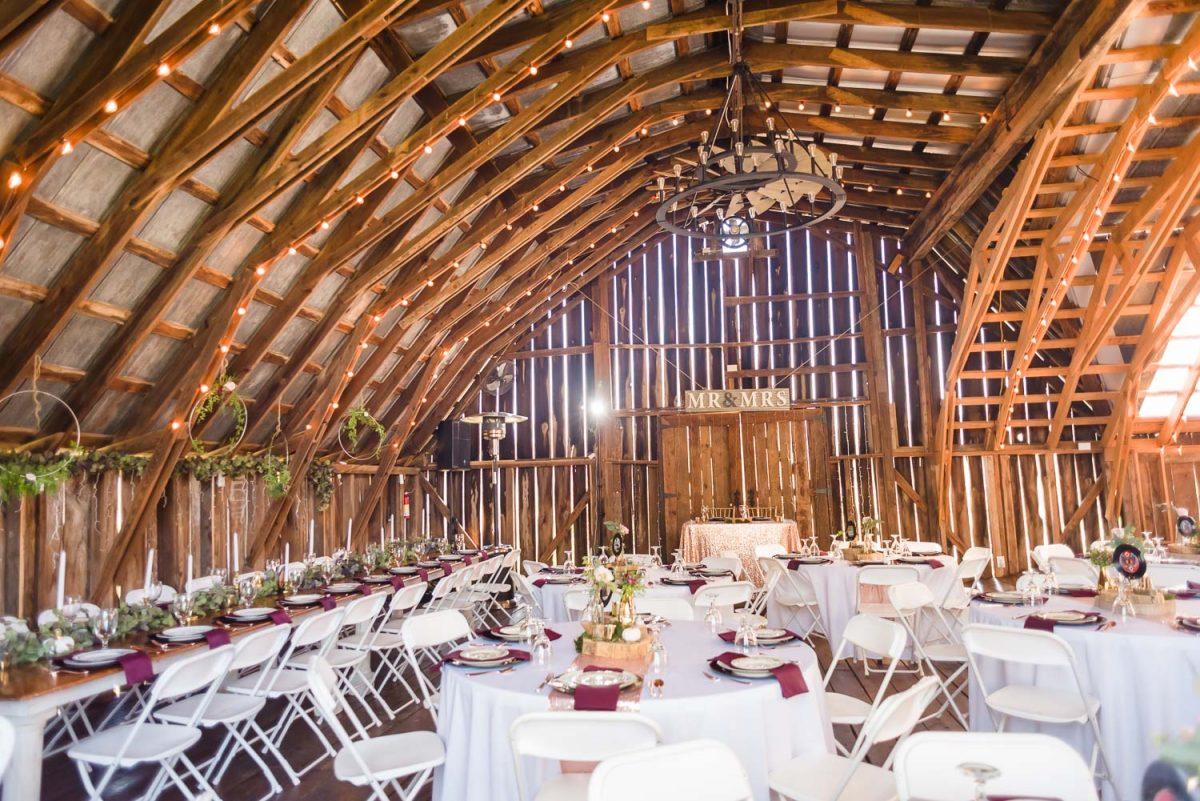 the interior of the Gray Dove barn venue in Ooltewah TN