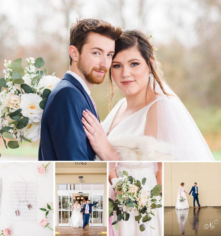 fairfiled inn wedding with outdoor wedding portraits