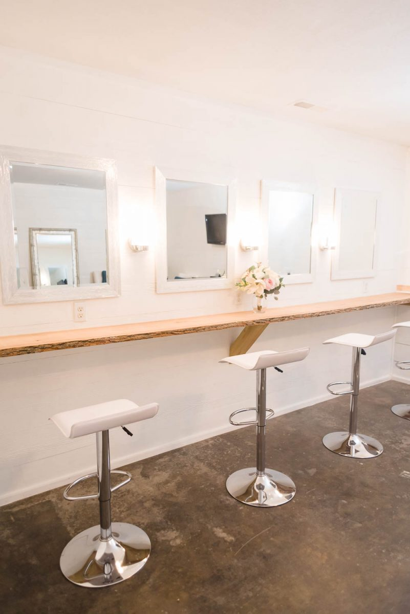 seivel chairs in bridal suite at the Venue at Lilly Lou's