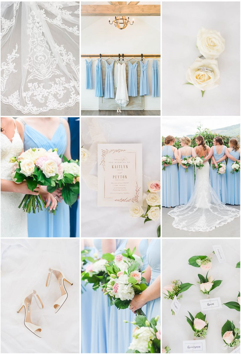 ice blue wedding detail inspiration