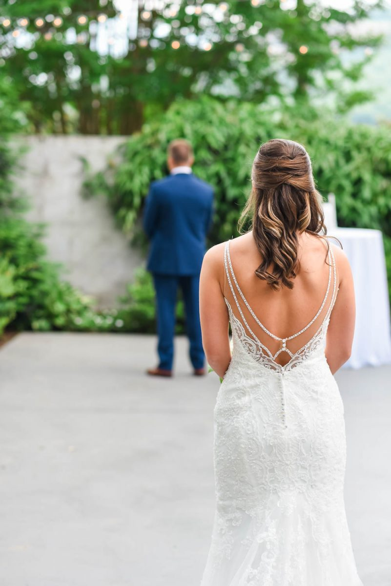 BACKVIEW OF sTELLA yORK WEDDING DRESS