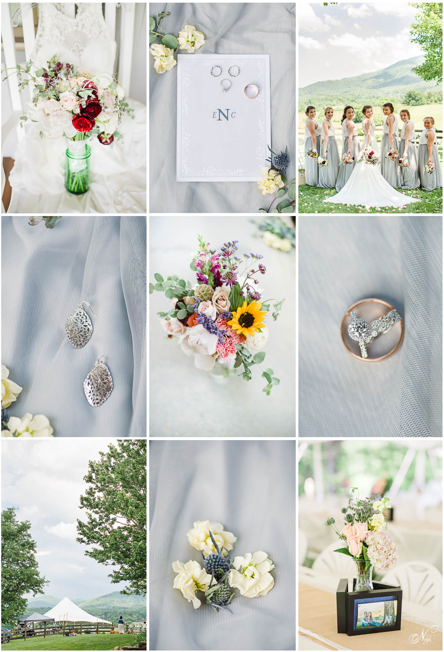 gray and white wedding detail inspiration