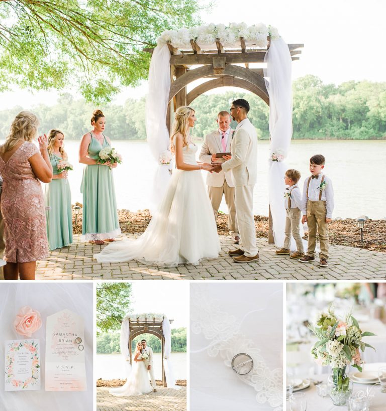 outdoor pastel wedding
