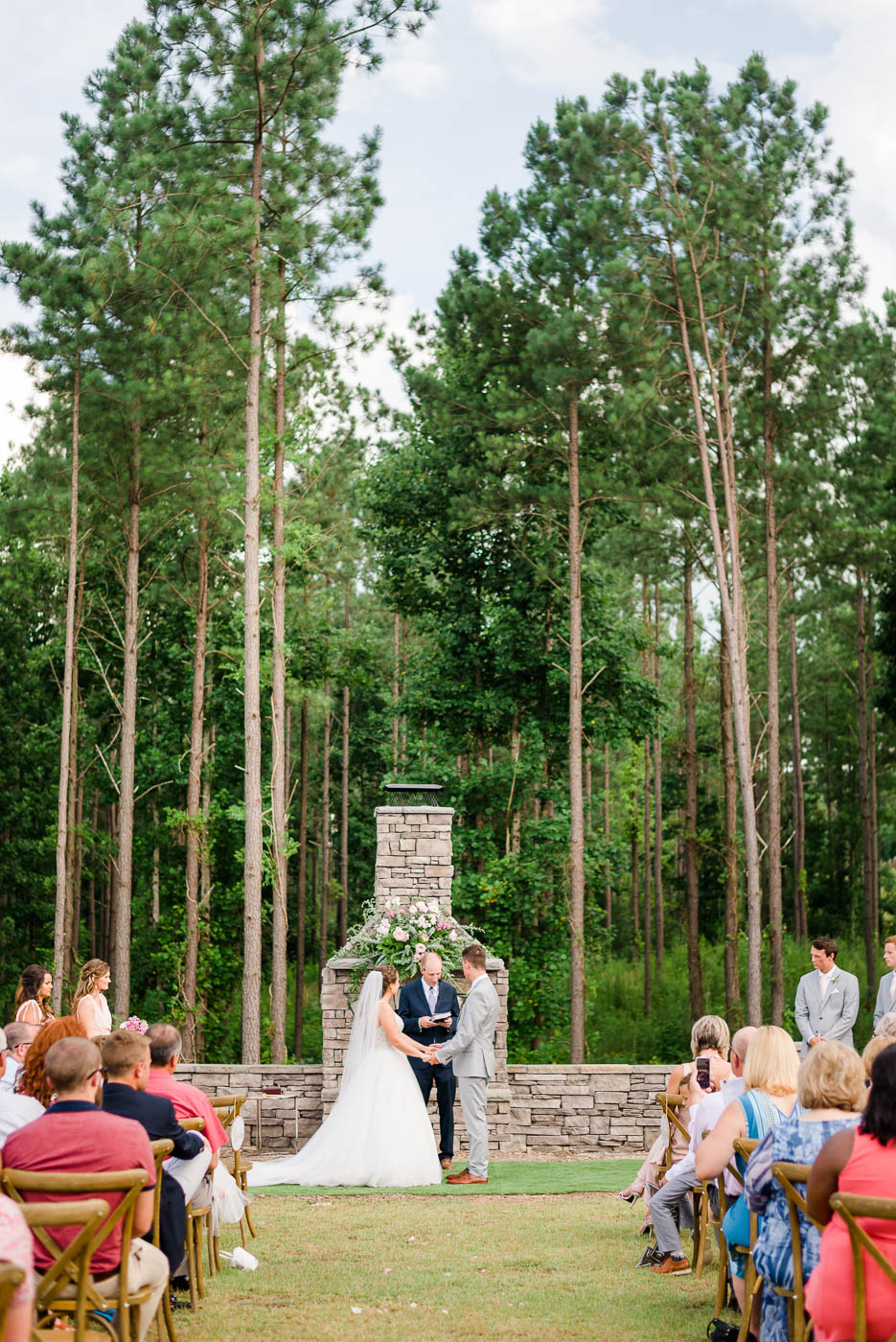 outdoor wedding at circle b venue in tunnel hill GA