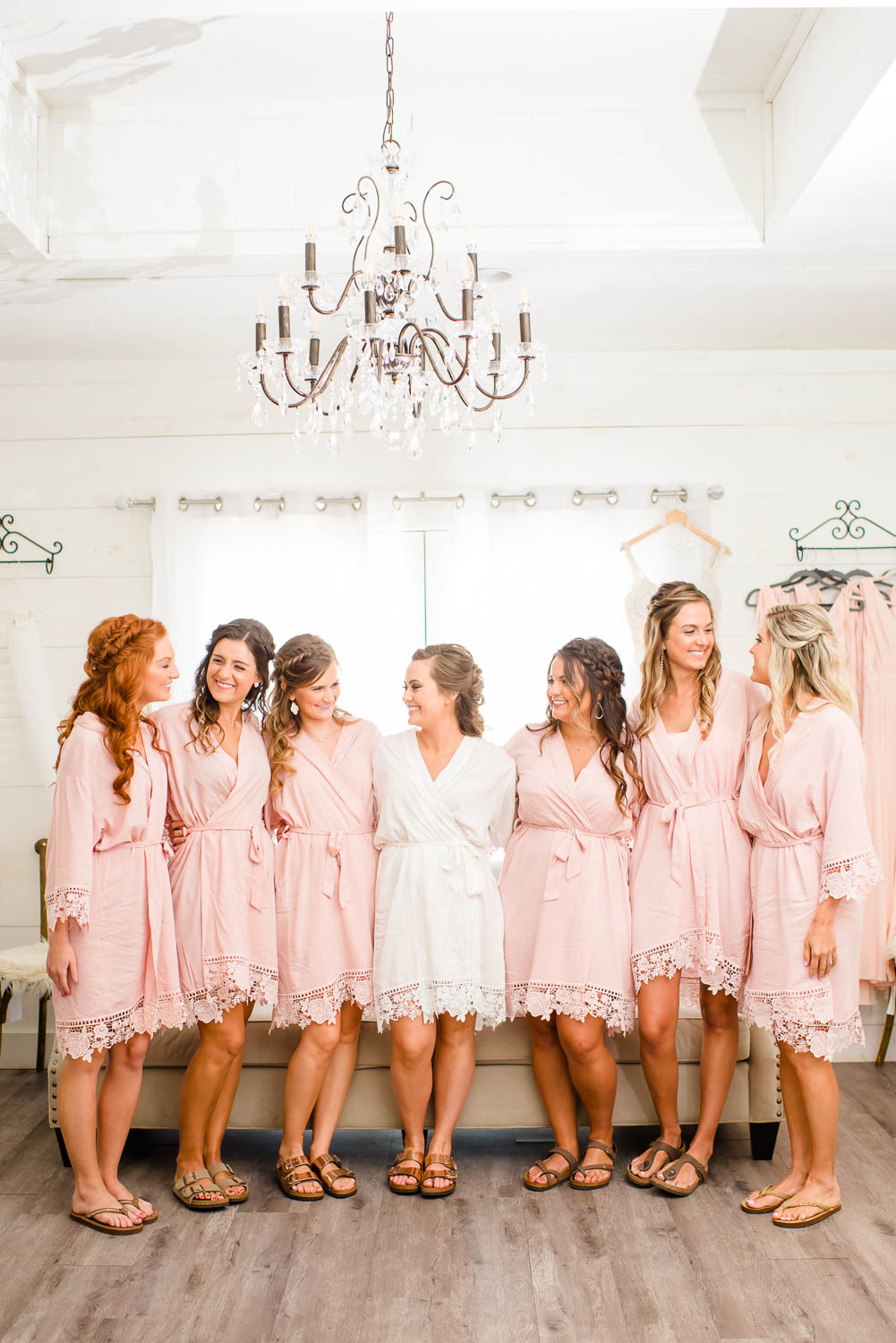 blush bridesmaids robes