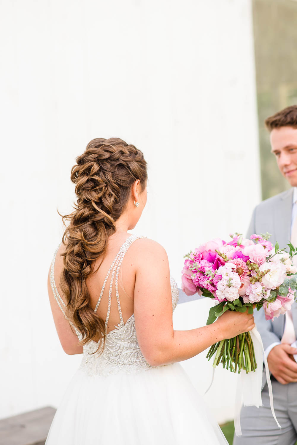 gorgeous wedding hair with braids