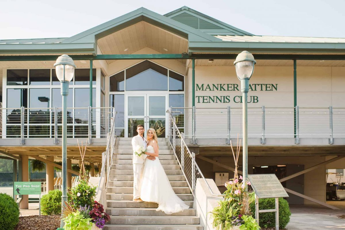front of building at Manker Patten and Zan Guerry Clubhouse in Chattanooga