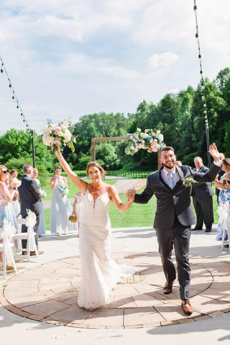 just married couple celebratin in gatlinburg weather