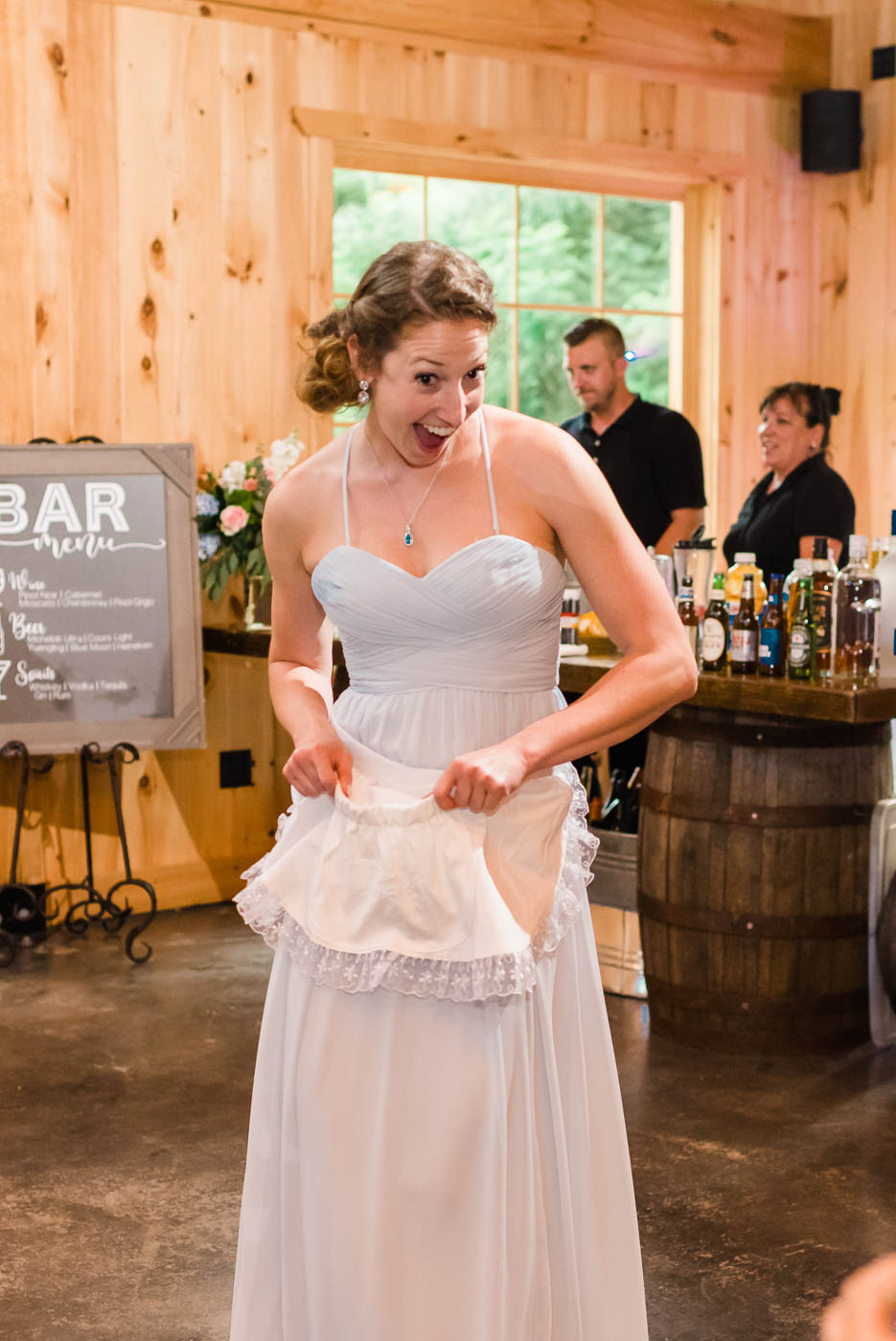 traditional Hungarian Dollar Dance apron worn by bridesmaid