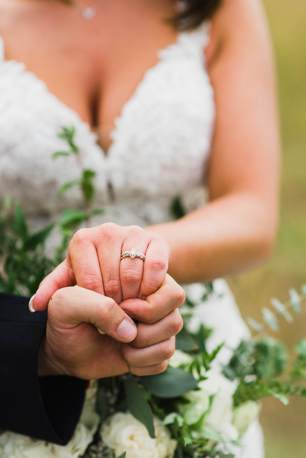 hands and wedding ring