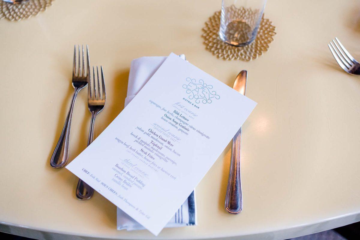dinner menu at Easy Bistro