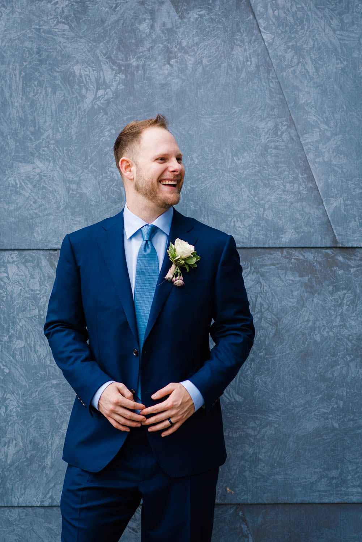 man inblue suit andblue background
