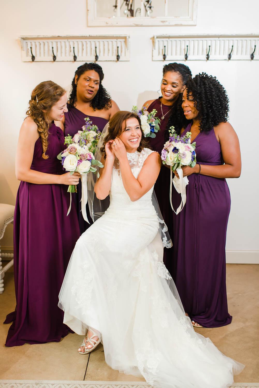 plum colored bridesmaids dresses
