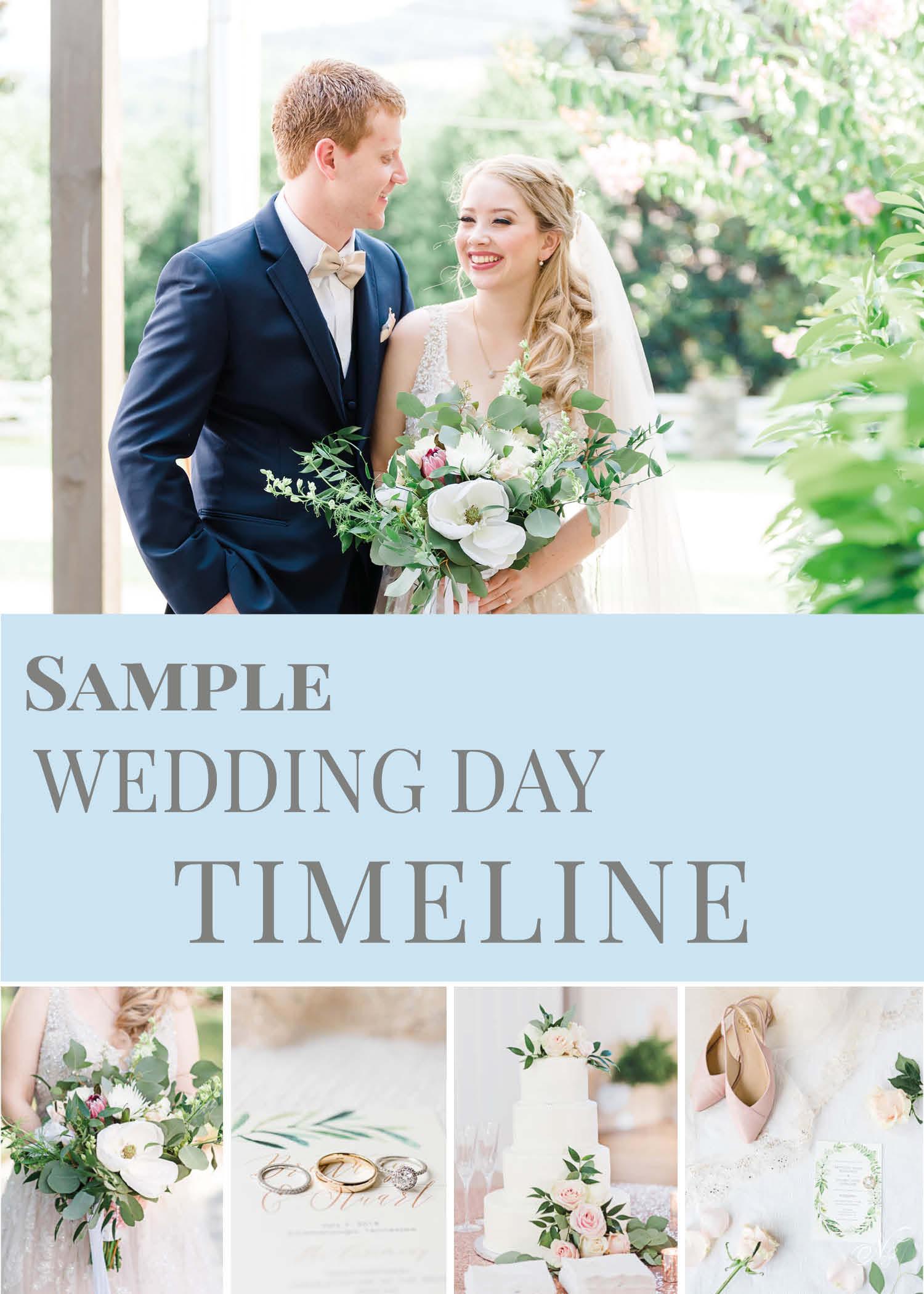 Wedding day sample timeline
