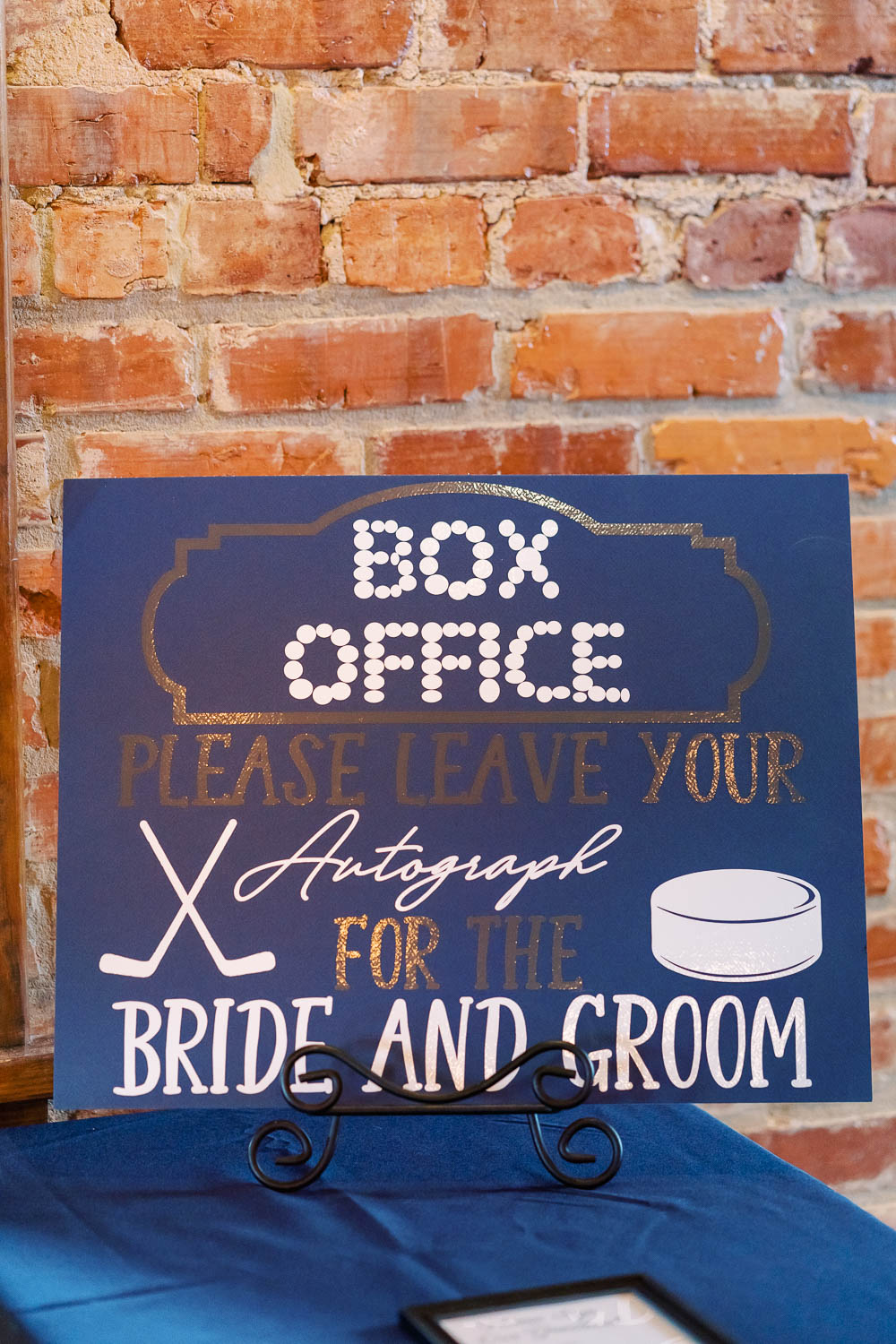 hockey themed wedding sign