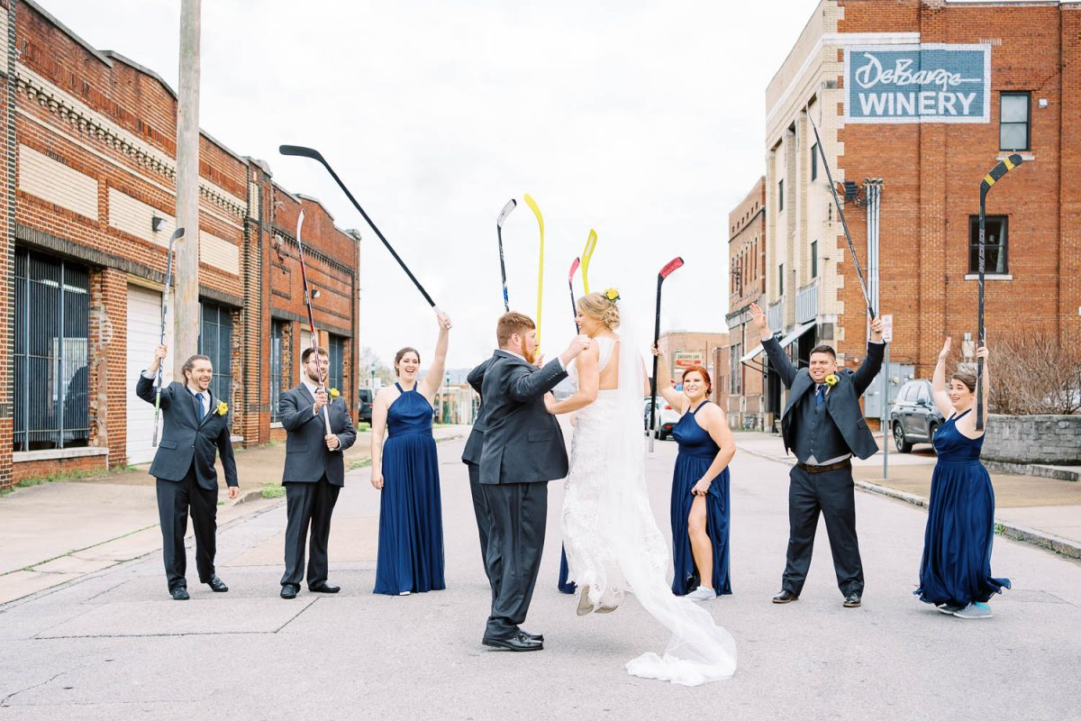 street hockey wedding