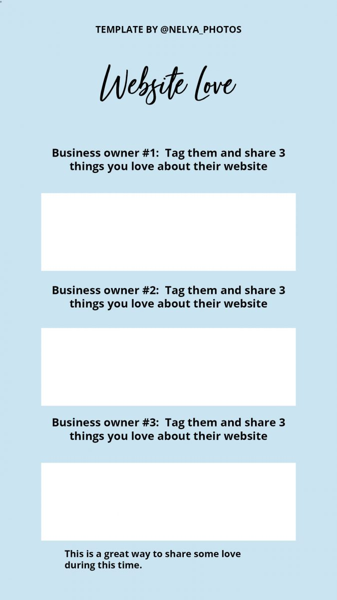 Instagram stories template for small businesses