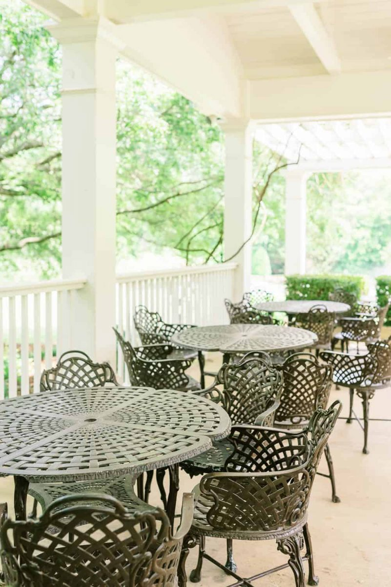 the conservatory patio at walnut hill farm in GA