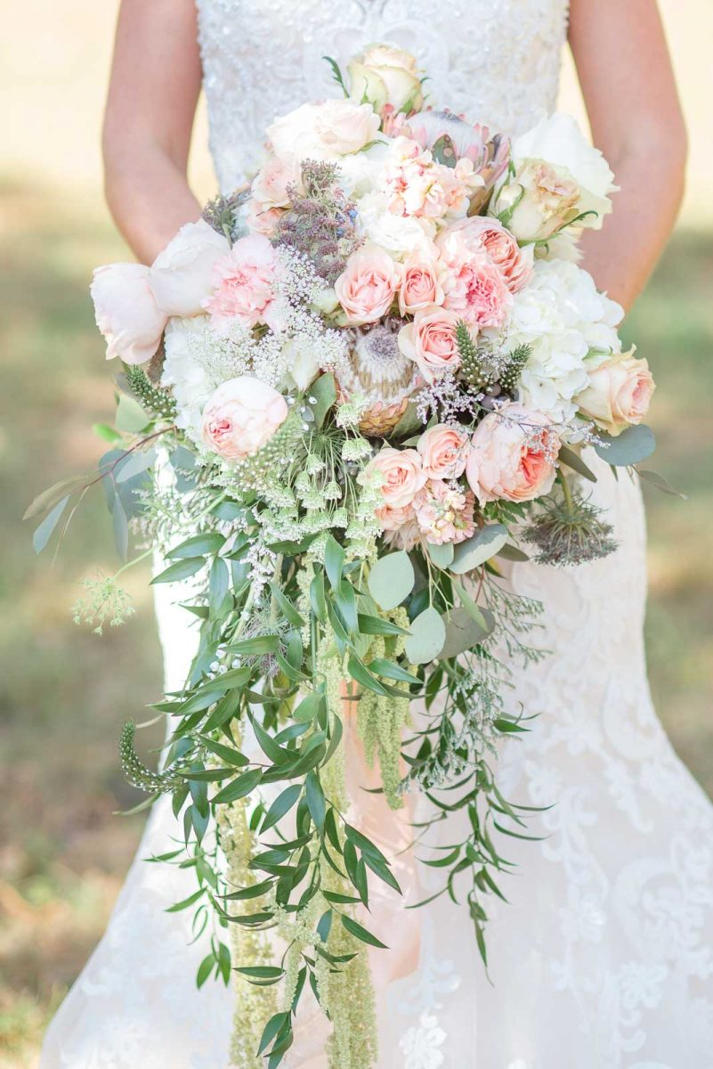 summer pink elaborate bridal bouquet